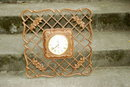 Huge  Lattice  Syroco Wall Clock,  8 Day Jeweled Wind Up with key.  of Syroco Wood  RARE STYLE * PRICED REDUCED! **