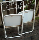 2 Metal Folding Chairs  Child's Size