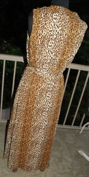 Leopard Print Wrap Around Long Maxi  Dress  size 12 to 14   **PRICE REDUCED**!