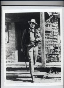 John Wayne Black/ White Photograph, Framed
