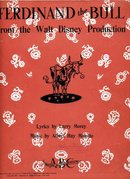 FERDINAND THE BULL 1938 DISNEY Sheet Music  by Malotte  RARE Vintage Sheet Music