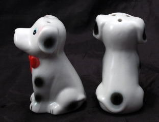 Dalmatian Puppy Dogs Salt & Pepper Shakers