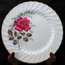 4 Wood & Sons, England Alpine White Ironstone 4 Rose 10