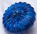 Swirl Top Art Glass Paperweight Purple and Blue