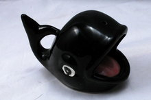 Ceramic  Pottery Whale  Incense Holder
