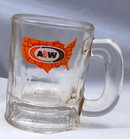 Small A & W Glass Rootbeer Mug