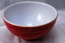 Emile Henry   Red White Ceramic Cereal Bowl,