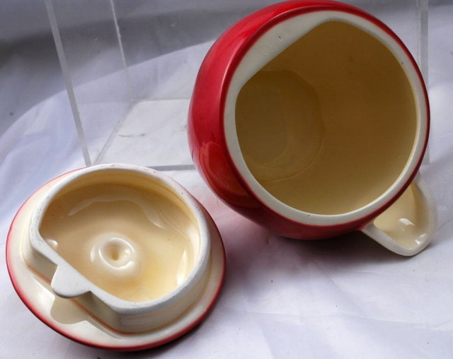 2 OTAGIRI JAPAN  Pitchers with Lids for  Syrups, Creamers