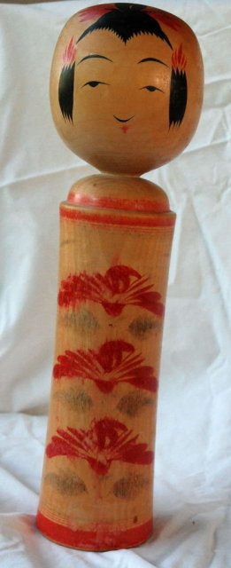 Vintage Japanese Wood Kokeshi doll  12