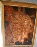 Vintage Mexican Copper Wall Art Bull & Matador , Repoussé